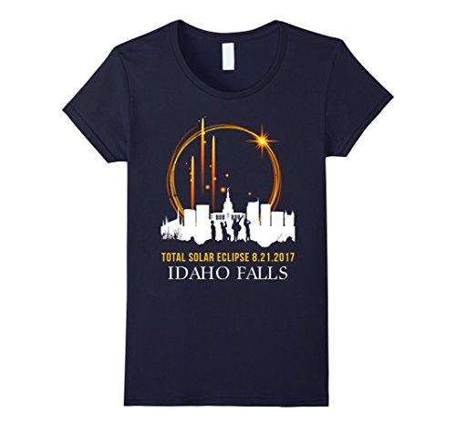 Womens Idaho Falls Total Solar Eclipse 8 21 2017 T Shirt Medium Navy