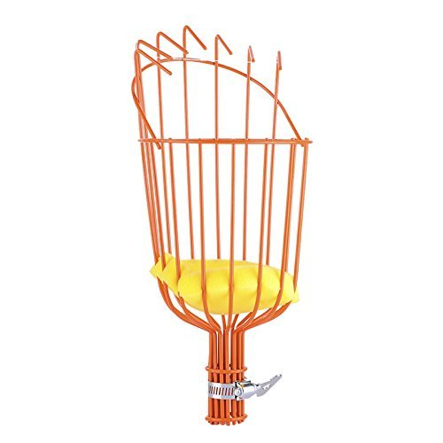 Maylai Fruit Picking-Professional Fruit Picker Tool Kit Basket Head Fruit Picker Basket Getting Fruits Extra Lightweight Ideal For Fresh Orange Apple Plum Pear Peach or any Kinds of Fruits