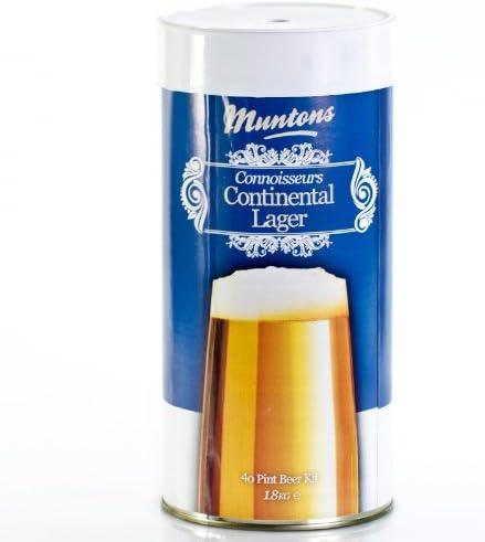 Muntons Continental Lager - Kit de Cerveza, 1,8 kg, para 23 litros de Cerveza