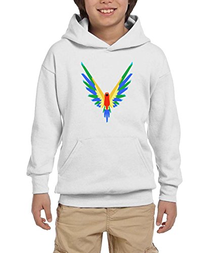 ReRabbit Logan Paul 365 Parrot Logo Sports Hoodies For Kids L White by ReRabbit
