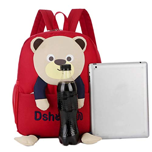 Toddler Bag Cartoon Bags Pattern Backpack Girls Boys EUzeo Bear School Kids Red Baby IwqxW0HZz
