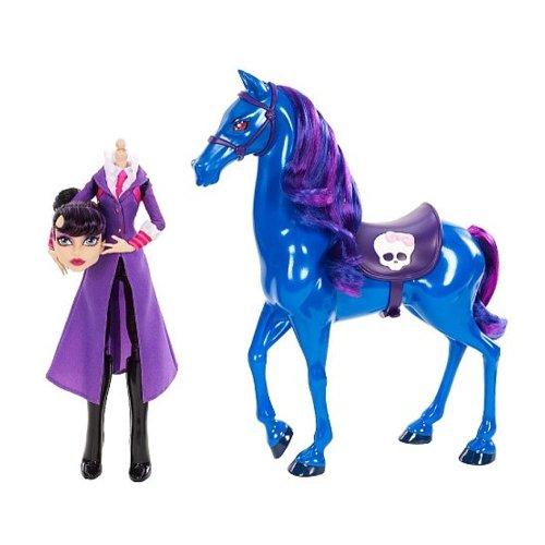 Monster High - Headless Headmistress Bloodgood Doll and Nightmare Horse Set (Monster High Headless)