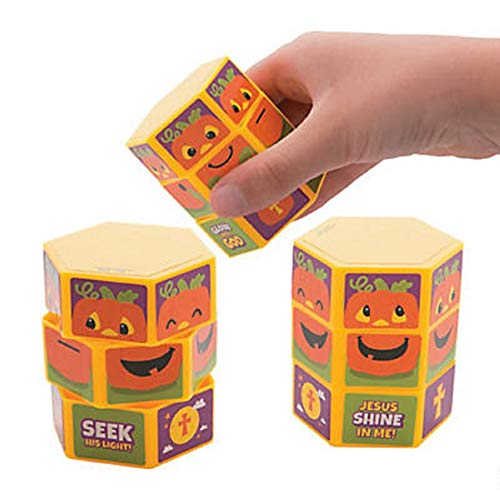 (Christian Pumpkin Twisty Puzzles Games Halloween Alternatives Religious Party Favors 12)