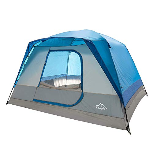Toogh 5-6 Person Camping Tent Waterproof Backpacking Tents for Outdoor Sports10 x 9 -Center Height 74in Blue