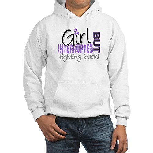 CafePress Girl Interrupted 2 Hodgkin's Lymphoma Sweatshirt Pullover Hoodie, Classic & Comfortable Hooded Sweatshirt White