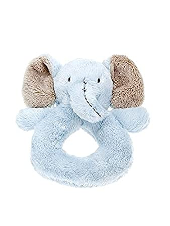 591c71ddca5 Mousehouse Gifts Blue Stuffed Animal Elephant Plush Rattle Ring Soft Toy  for Newborn Baby Boy