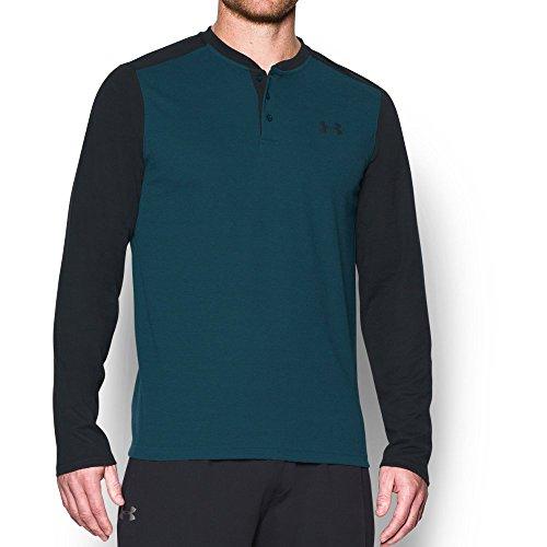 Under Armour Men's ColdGear Infrared WL Henley Shirt, Nova Teal /Black, ()