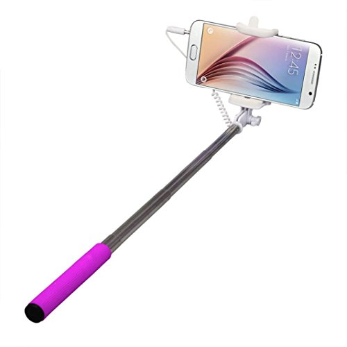 Selfie Stick, HP95(TM) Extendable,Selfie Stick Monopod for iPhone, Android, Wire (Hot pink)