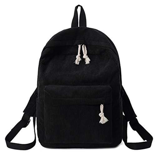 School Students Dabixx Corduroy Light Backpack Gray Women Bags Fashion Black Rucksack Girls tqqfxCF0w