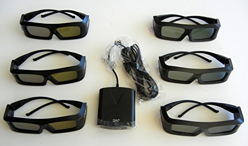 - JVC Pk-ag1-b Glasses (SIX) and JVC Emitter PK-em1 for 2X Brightness with all JVC projectors and Silver screen