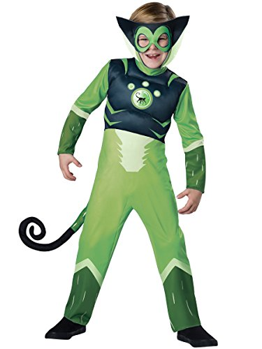 (Wild Kratts Spider Monkey-Green Costume,)