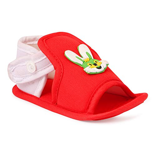 INSTABUYZ Unisex Baby White Dog Cotton Infant First Walking Sandal