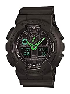 Casio Men's 'G-Shock' Quartz Resin Sport Watch, Color: Black (Model: GA100C-1A3) (B00G3JSF22) | Amazon price tracker / tracking, Amazon price history charts, Amazon price watches, Amazon price drop alerts