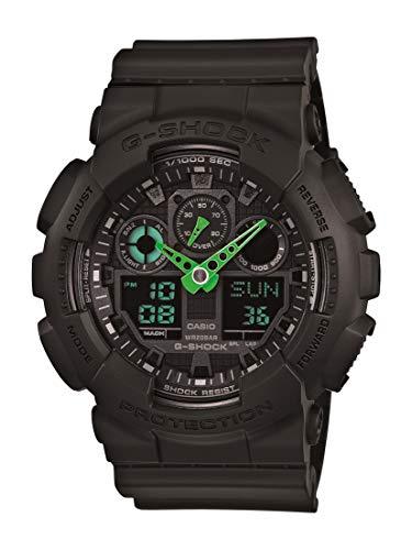 Casio Men's XL Series G-Shock Quartz 200M WR Shock Resistant Resin Color: Black (Model GA-100C-1A3CR)