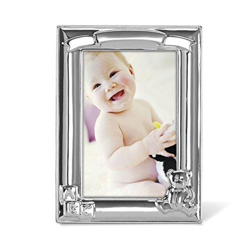 Lenox 867433 Childhood Memories 4X6 Metal Bear Frame, Silver by Lenox