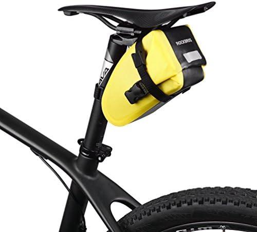 RockBros resistente al agua bolsa para sillín de bicicleta Ciclismo asiento paquete bicicleta asiento bolsa para bicicleta de carretera de montaña, amarillo: Amazon.es: Deportes y aire libre