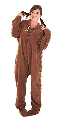 Forever Lazy Footed Adult Onesie - Lay Down Brown - XS - Buy Online ... c7c718e76