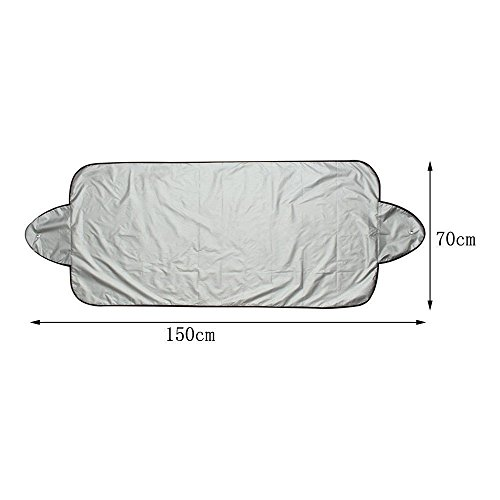 Staron Snow Cover Windshield for Car, Protect You Car - Windshield Cover Cars Snow Ice Protector Visor Sun Shade Front Rear Car Cover Block Shields (150x70cm) by Staron  (Image #3)