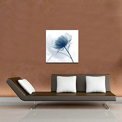 wieco art blue flickering flower canvas prints wall art
