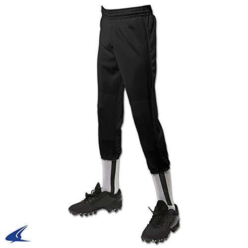 Champro Youth Performance Pull-Up Baseball Pants - Black - Large by CHAMPRO