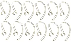 12 Samsung OEM Clear Replacement Ear Hook (& FREE WHITE HOOK!) Ear hook. Compatible with Samsung Bluetooth Headset Hm1100, Hm 1100, Hm1200, Hm 1200.