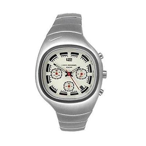 Reloj NIKE hombre WR0074 - 002 al cuarzo (batería) acero quandrante blanco correa acero: Amazon.es: Relojes