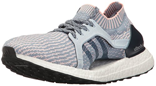 adidas Women's Ultraboost X Running Shoe, Tactile Easy Blue/Haze Coral, 11 M US