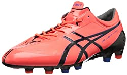ASICS Men's DS Light X-Fly MS Soccer Shoe,Flash Pink/Black/Blue,7.5 M US