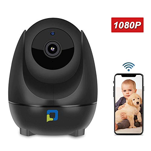 OPTJOY Wireless Security Camera, 1080P WiFi IP Camera, Pan/Tilt/Zoom Home Indoor Surveillance Camera Auto Night Vision, Motion Tracker, Two-Way Audio, iOS/Android APP, Free Cloud Service