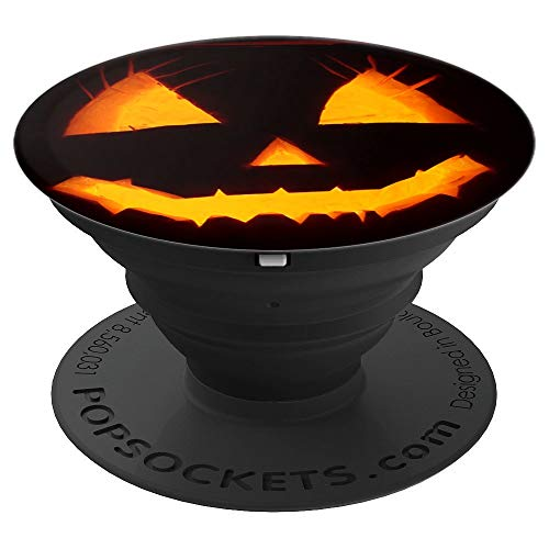 Halloween Pumpkin Face PopSocket - custom funny design 100% - PopSockets Grip and Stand for Phones and Tablets -
