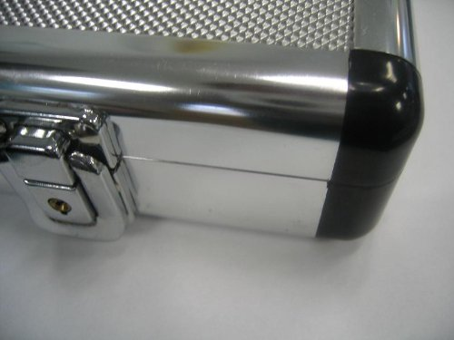 Maletin Maleta Attache de aluminio plateado muy estrecho delgado 49000