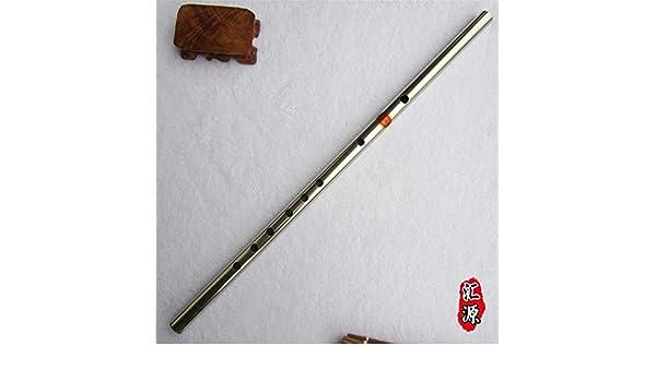 Flauta transversal Dizi china de acero inoxidable con 6 agujeros en forma de F para principiantes: Amazon.es: Instrumentos musicales