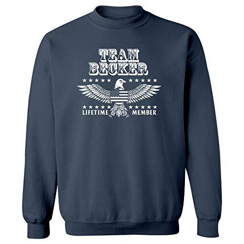 MESS Team Becker Last Name Surname Pride - Sweatshirt Navy