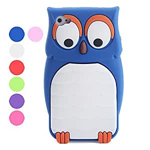Owl Pattern Silicon Protective Case for iPhone 4 and 4S --- COLOR:Purple