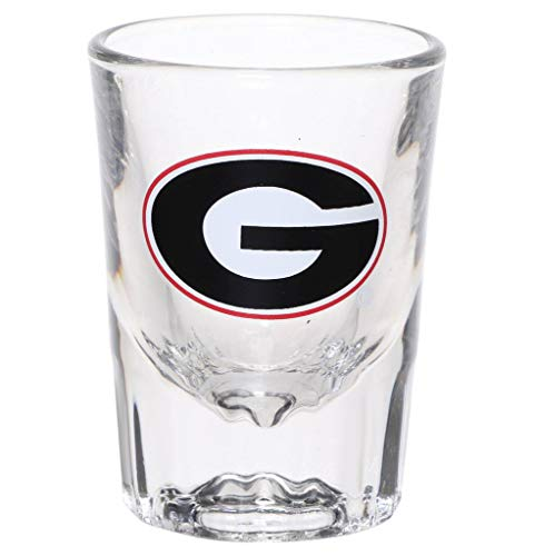 Georgia Bulldogs 2oz. Fluted Collector Glass