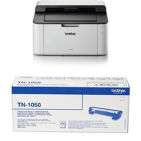 Brother HL-1110 - Impresora láser monocromo compacta + ...