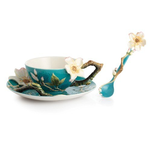 Franz Collection Porcelain Van Gogh Almond Flower Cup/saucer