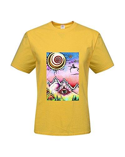 DIY Trippy T-Shirts,Men's 100% Cotton Short Sleeve T-Shirt (XX-Large)