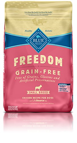 Blue Buffalo Freedom Grain Free Recipe for Dog, Small Breed Chicken Recipe, 11 lb (Buffalo Blue Small Bites)