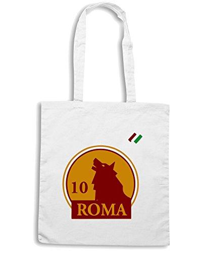 T-Shirtshock - Bolsa para la compra OLDENG00226 roma 10 kids Blanco