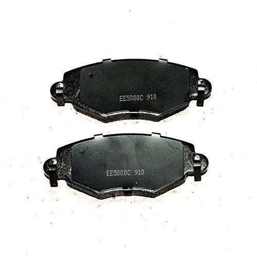 Ceramic Brake Pads For 2006-2008 Jaguar S-Type Rear Black Slotted Brake Rotors