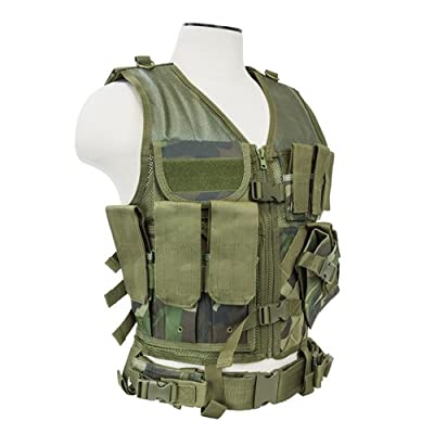 NcSTAR VISM CTVL2916WC Tactical Vest, Large, Woodland Camo
