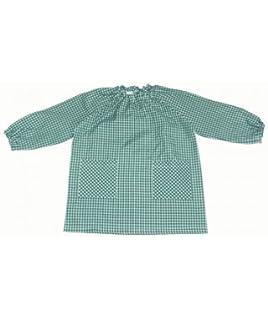 10XDIEZ Bata Escolar Unisex Verde - Medida Bata Infantil - 0-2 años (86