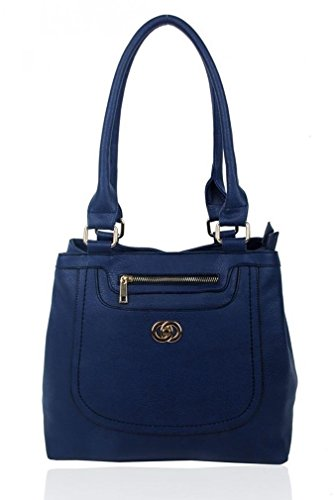 Bag Shoulder Oxford Medium Women For School Grab Work Size Tote Handbags Girls Leahward Faux Blue Leather xBYXwXA