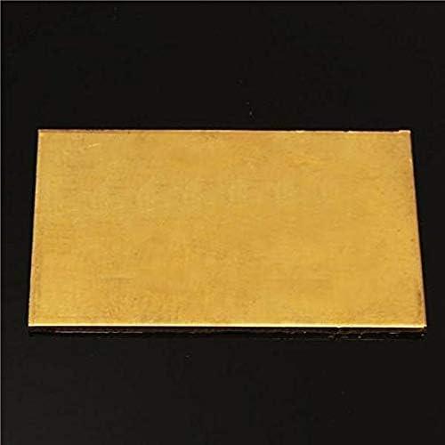 JK-2 Plaque de Feuille en Laiton de Feuille dexp/érimentation dindustrie dindustrie de 3mmx60mmx100mm