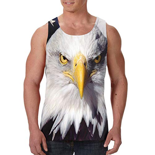 Men's Tank Top American Patriotic Eagle Custom Workout Vest Sleeveless Shirts