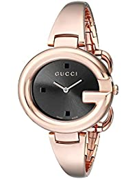 d0e9dc44ef2 Guccissima Collection Analog Display Swiss Quartz Rose Gold Women s Watch(Model YA134305).  Gucci
