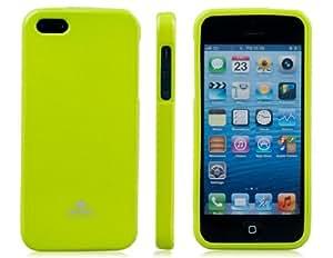 TR Mercurio funda protectora brilla TPU de goma para iPhone 5 (verde)