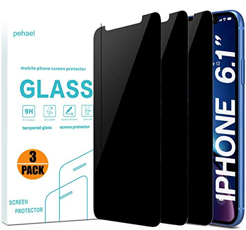 iPhone Xr Privacy Screen Protector, Tempered Glass Screen Protector(3 Pack)