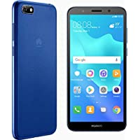 "Huawei Y5 2018 DRA-L23 Dual SIM FullView Display 5.45"" 4G LTE Quad Core 16GB 8MP Smartphone Factory Unlocked Android GO (Versión Internacional), Azul"